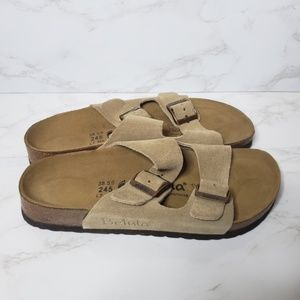 NWOT Birkenstock Betula Arizona Tan Suede Sandals